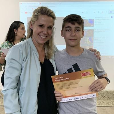2019_07_01 - Menção honrosa 14ª Olimpíada de Matemática02