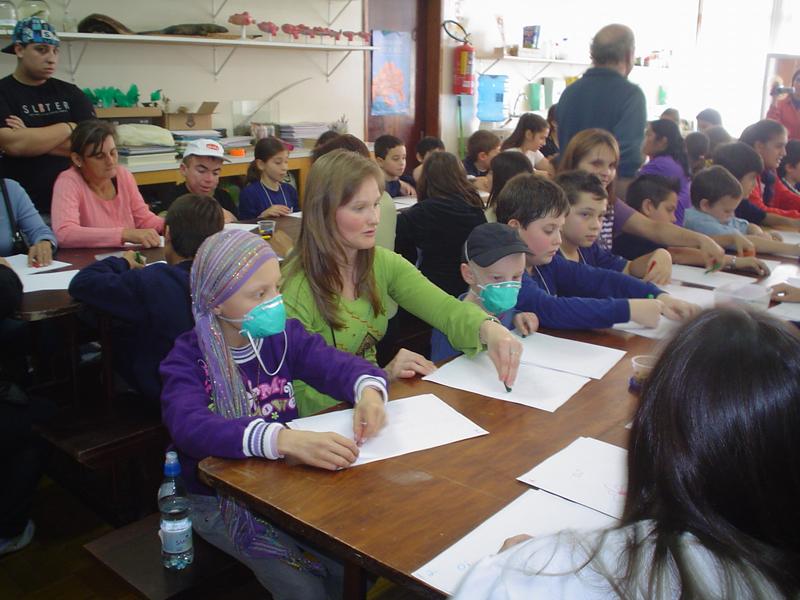 Ação com o Instituto do Câncer Infantil - 2010.