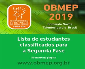 2019-07-09-Lista aprovados OBMEP 2019